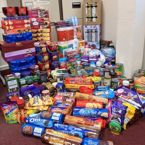 Post 16 food bank collection