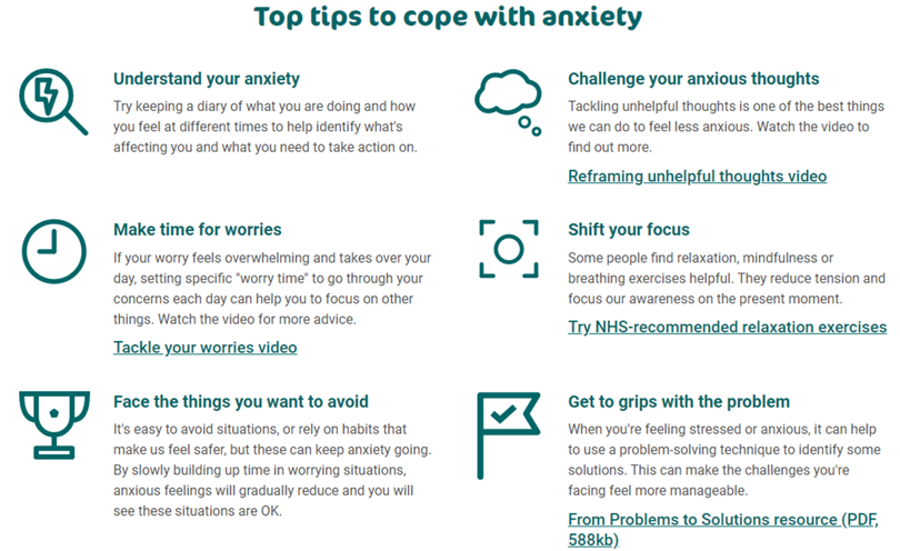 Anxiety top tips